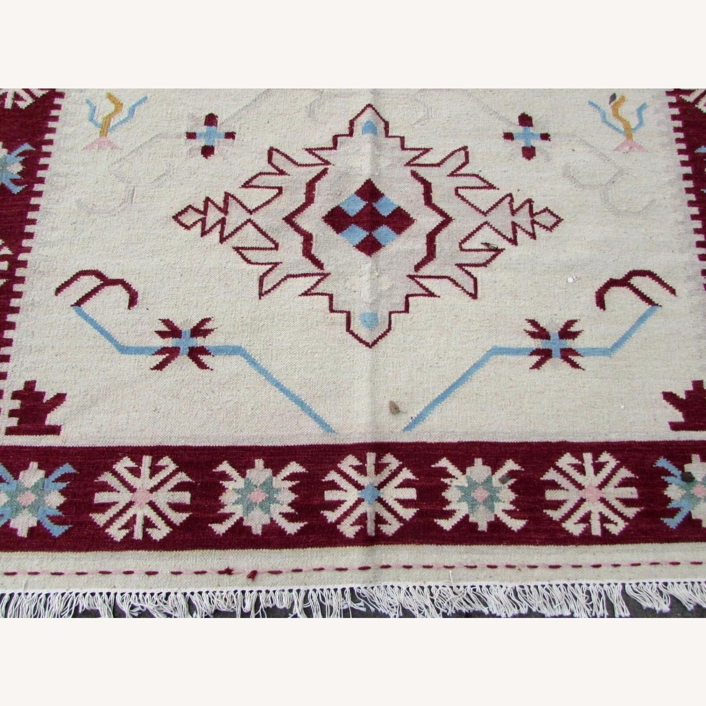 Handmade Vintage Indian Dhurri Kilim - image-8