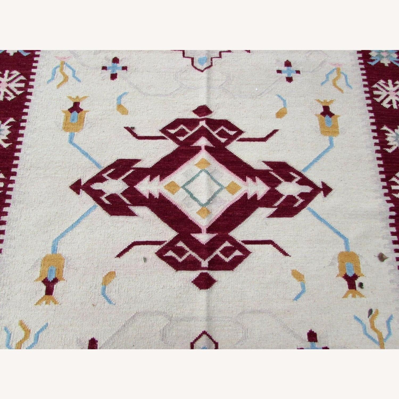 Handmade Vintage Indian Dhurri Kilim - image-7