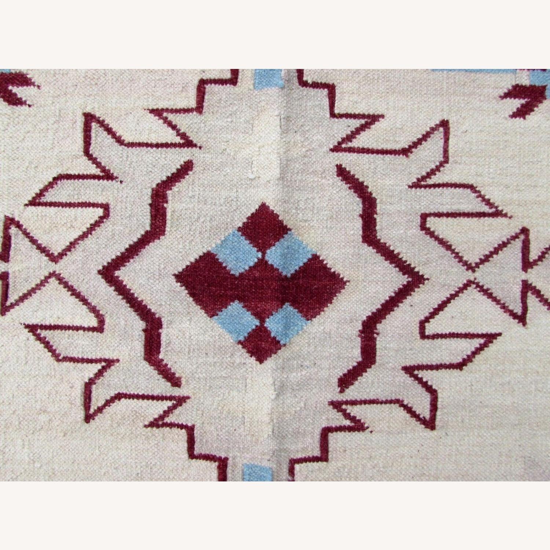 Handmade Vintage Indian Dhurri Kilim - image-10
