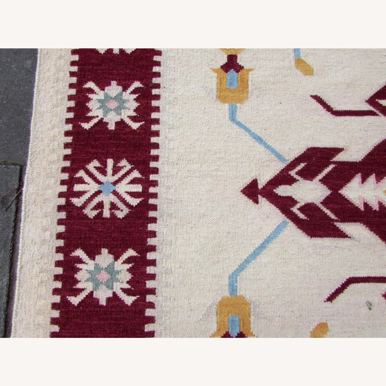 Handmade Vintage Indian Dhurri Kilim - image-12