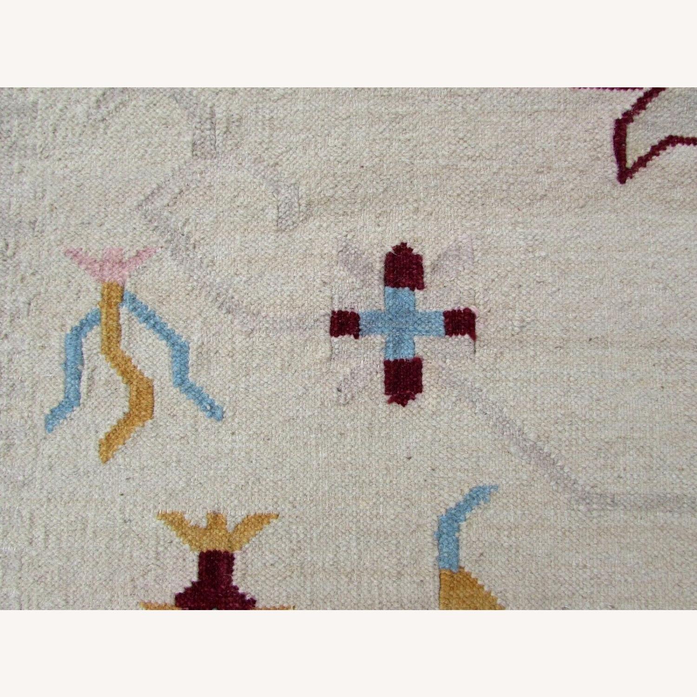 Handmade Vintage Indian Dhurri Kilim - image-11