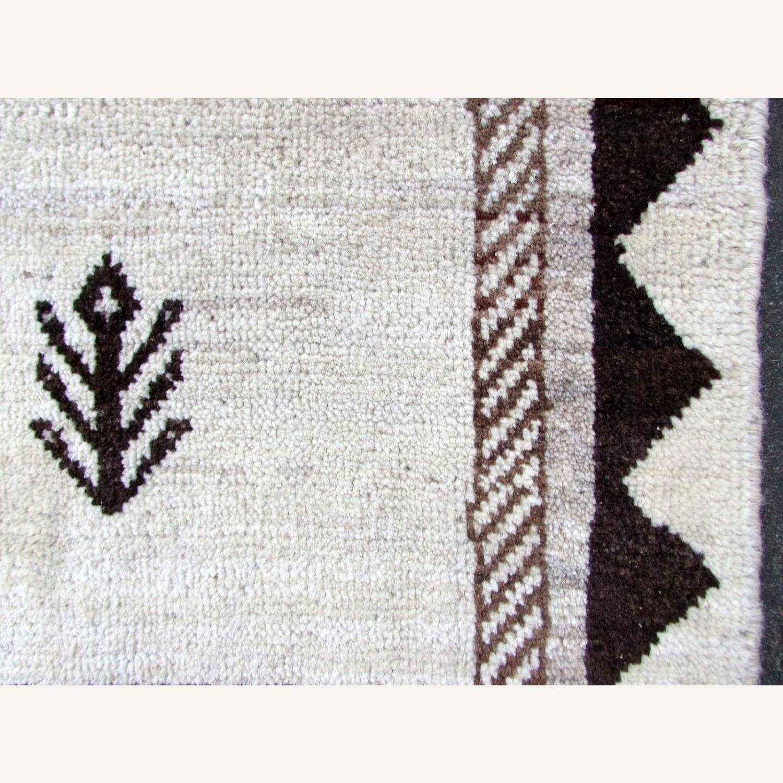Handmade Vintage Persian Gabbeh Rug - image-10