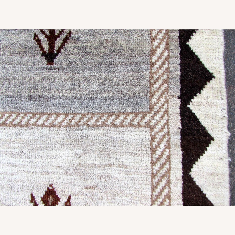 Handmade Vintage Persian Gabbeh Rug - image-7