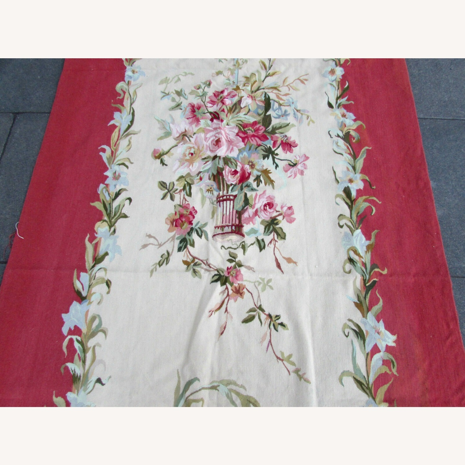 Handmade Vintage French Aubusson Rug - image-6