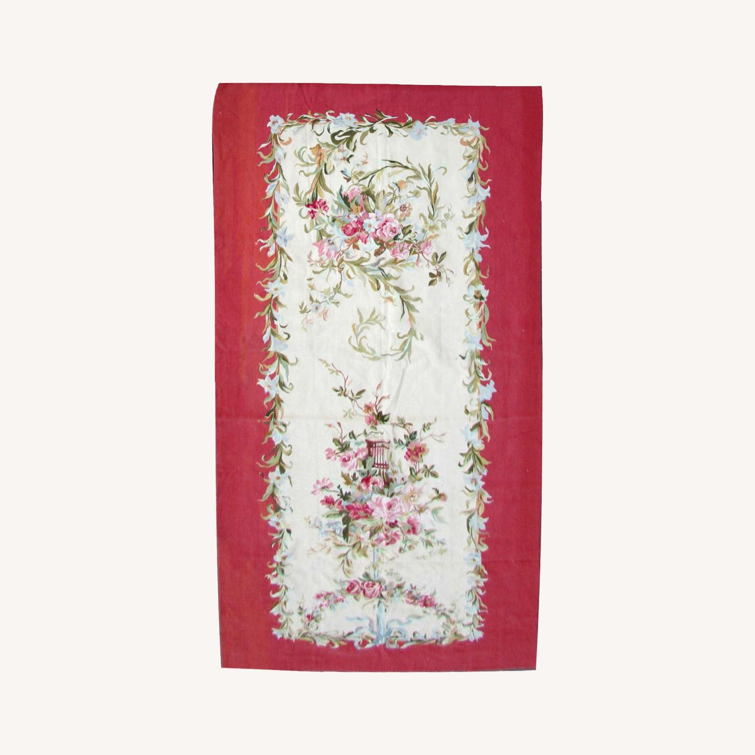 Handmade Vintage French Aubusson Rug - image-0