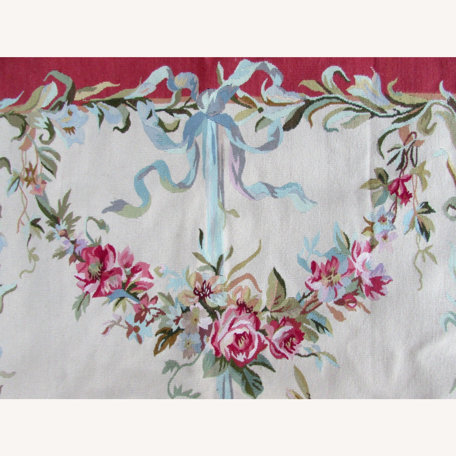 Handmade Vintage French Aubusson Rug - image-8
