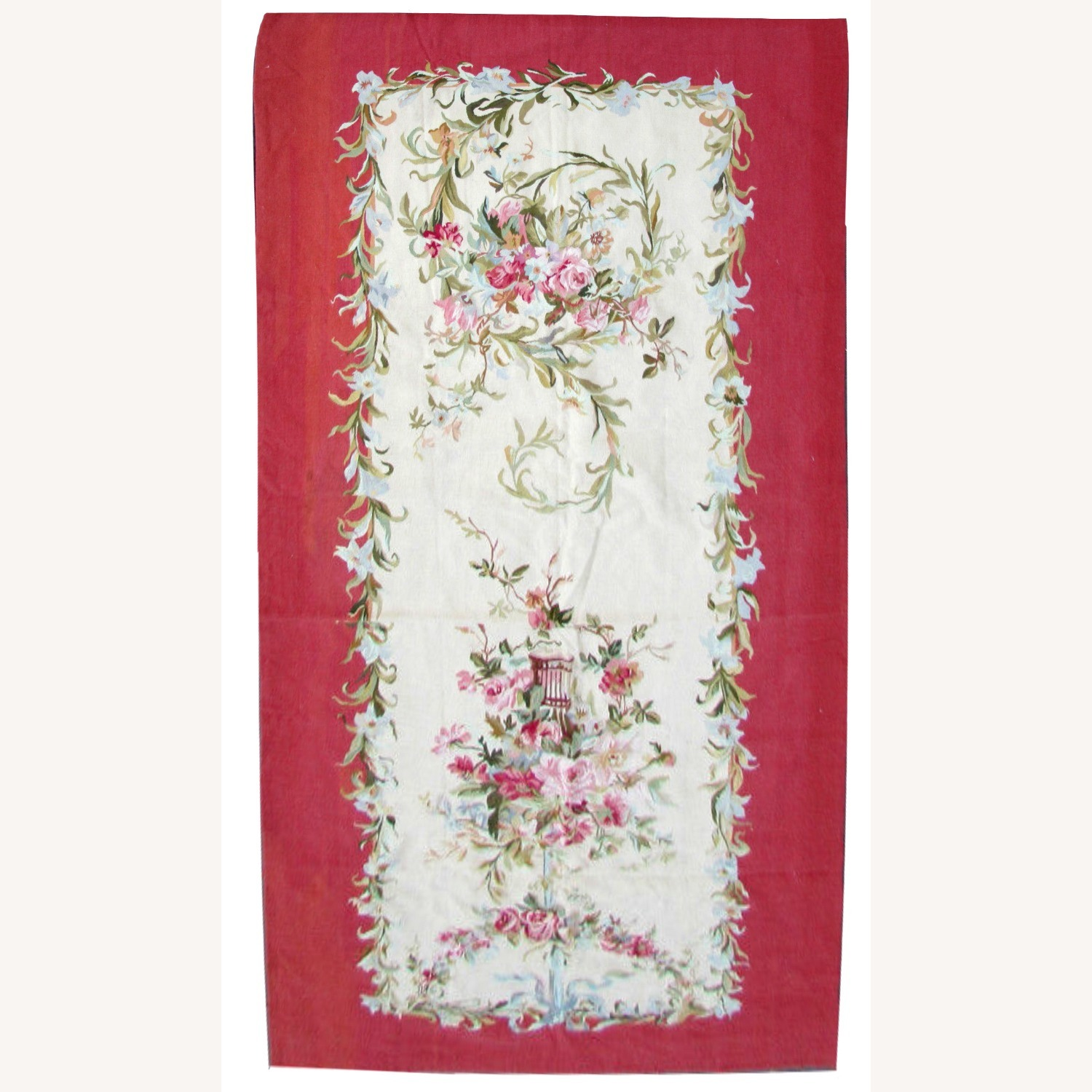 Handmade Vintage French Aubusson Rug - image-1