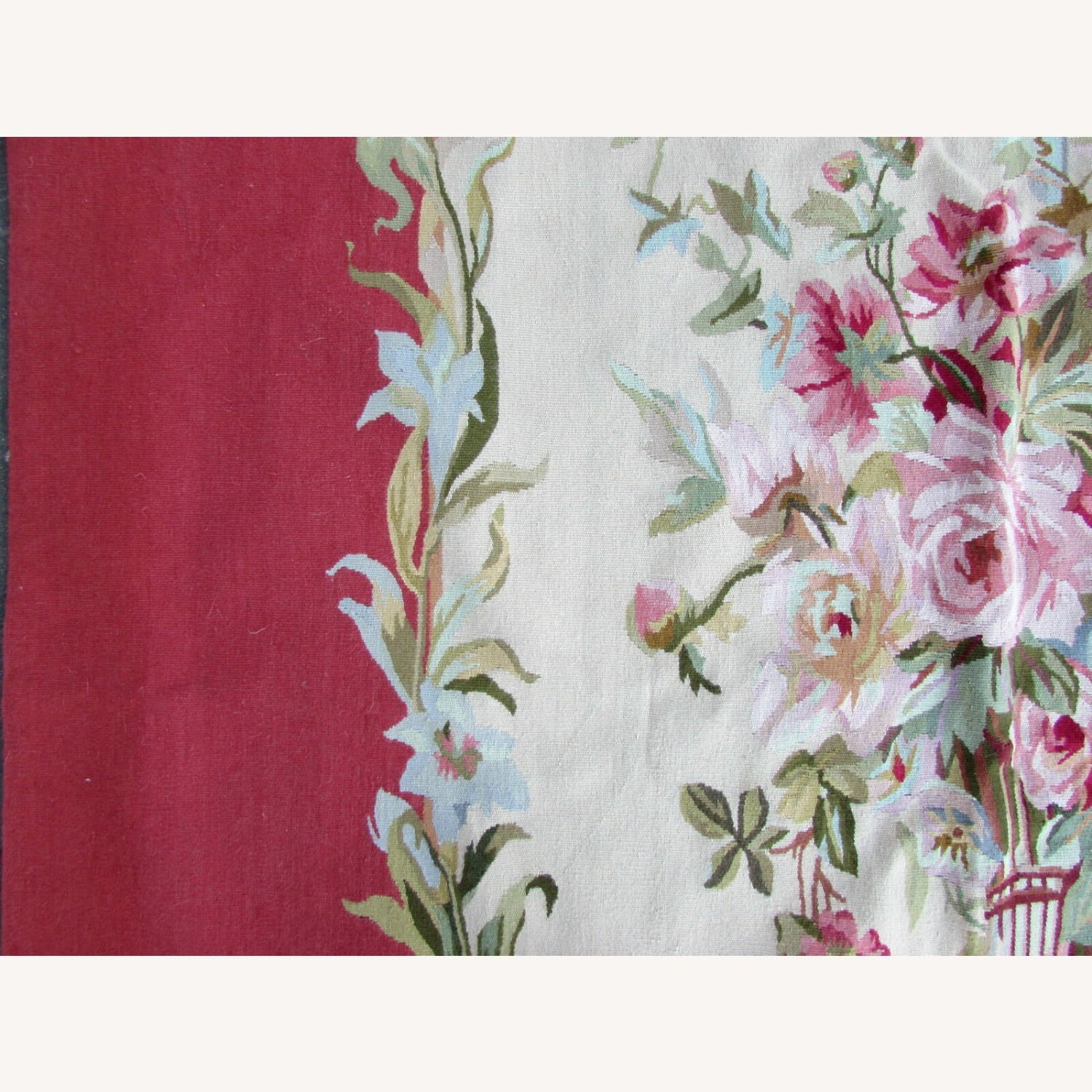 Handmade Vintage French Aubusson Rug - image-9