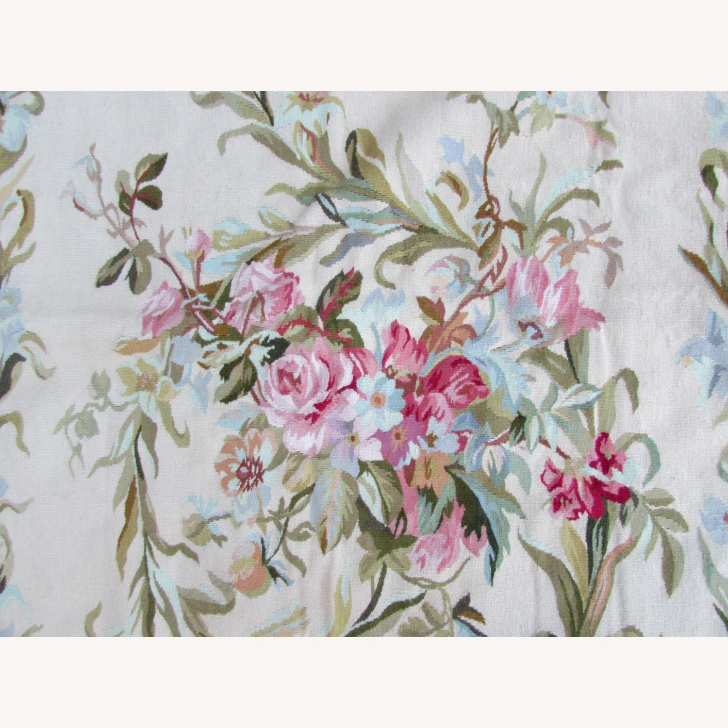 Handmade Vintage French Aubusson Rug - image-3
