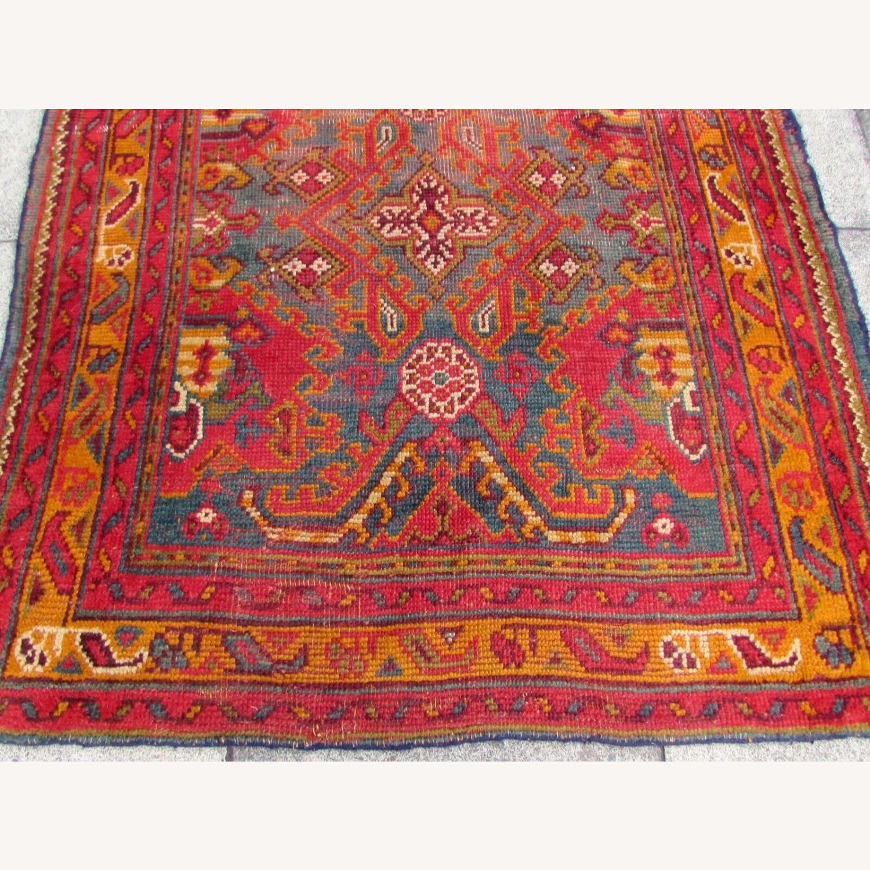Handmade antique Turkish Oushak rug - image-5