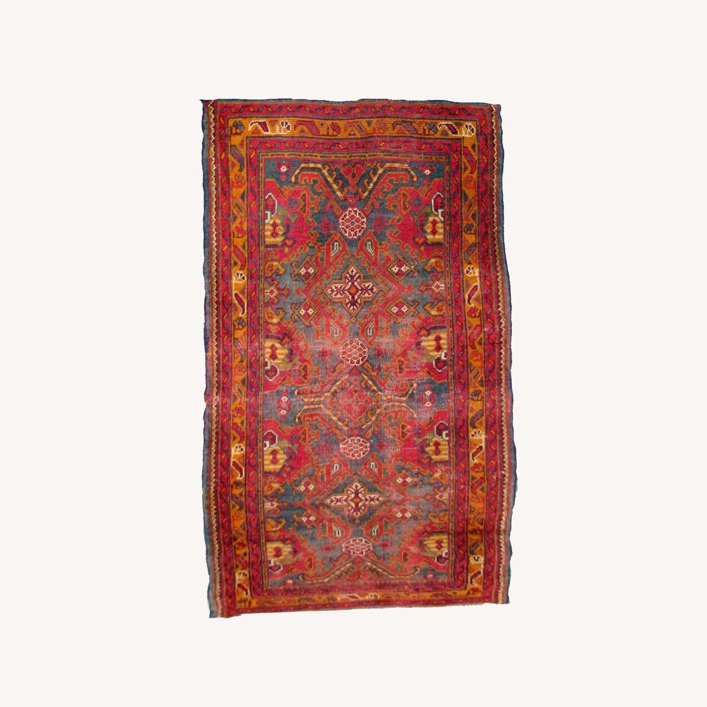 Handmade antique Turkish Oushak rug - image-0