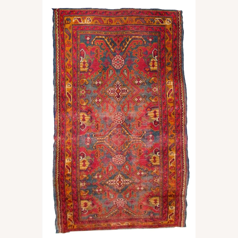 Handmade antique Turkish Oushak rug - image-1