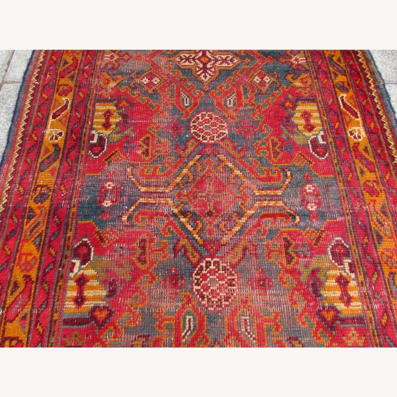 Handmade antique Turkish Oushak rug - image-4