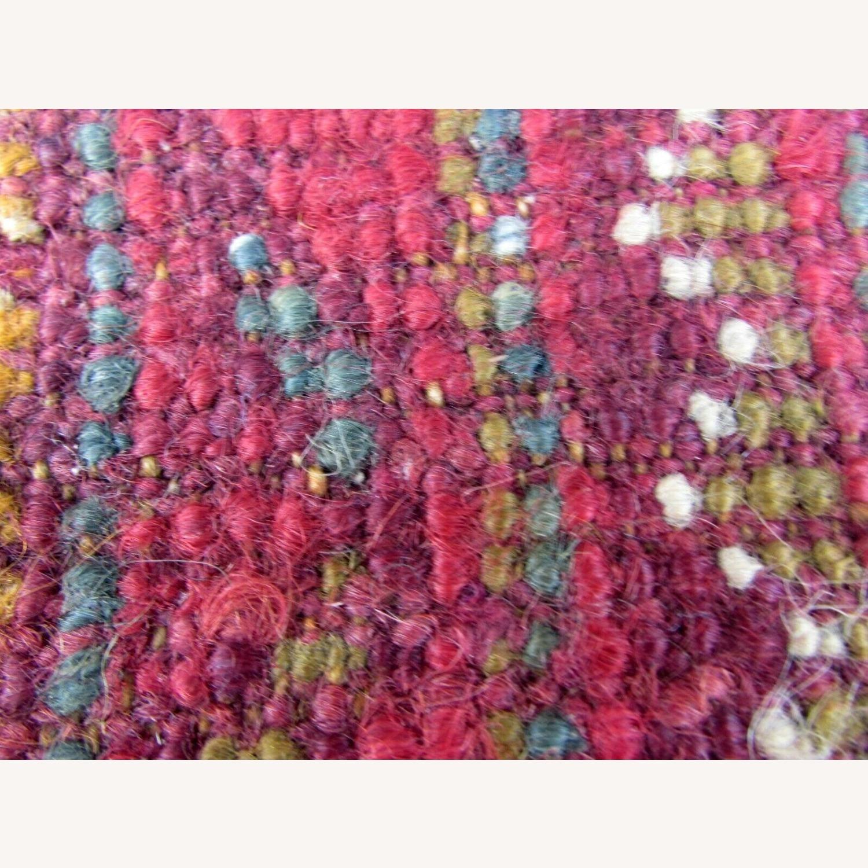 Handmade antique Turkish Oushak rug - image-11