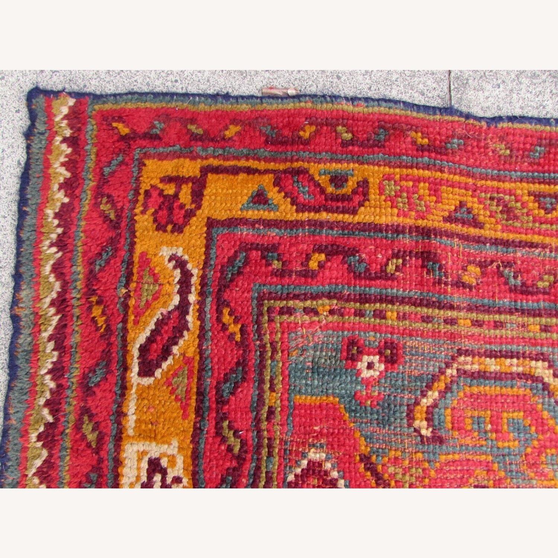 Handmade antique Turkish Oushak rug - image-6