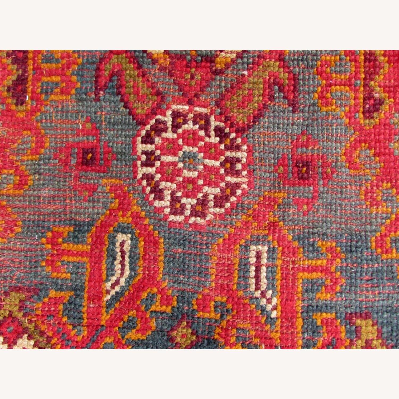 Handmade antique Turkish Oushak rug - image-2