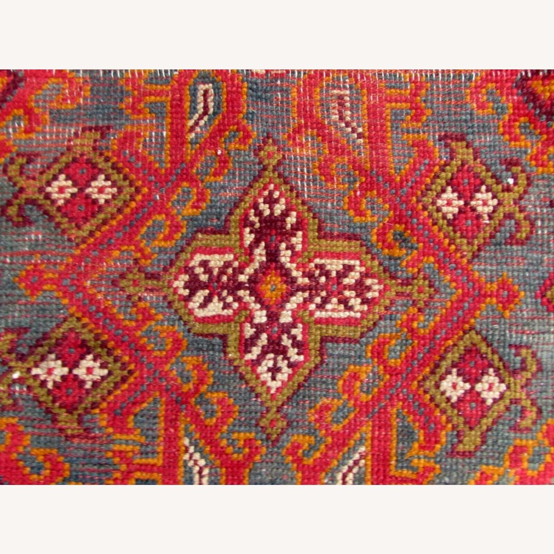 Handmade antique Turkish Oushak rug - image-8