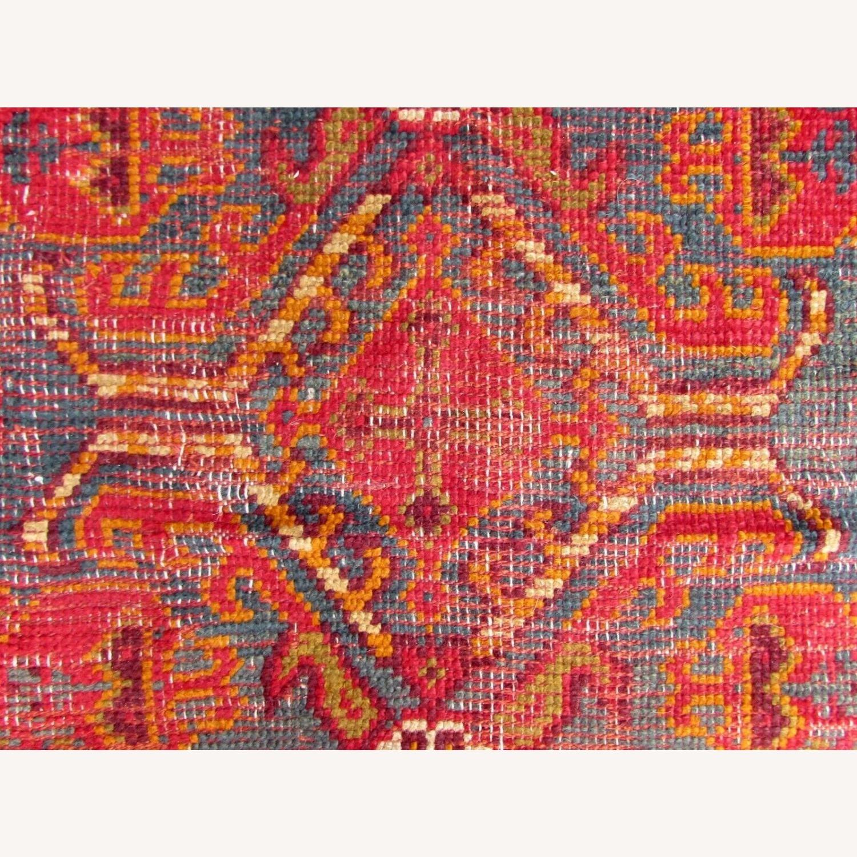 Handmade antique Turkish Oushak rug - image-3