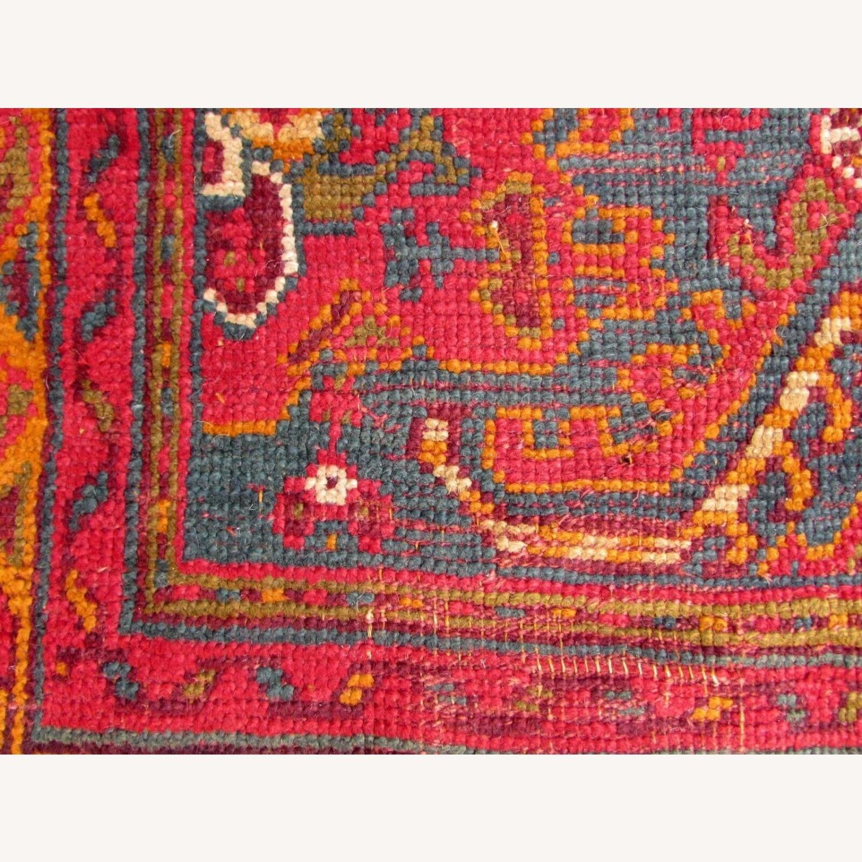 Handmade antique Turkish Oushak rug - image-9