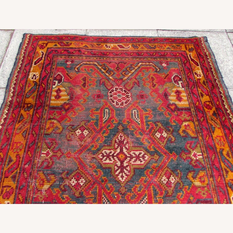 Handmade antique Turkish Oushak rug - image-12