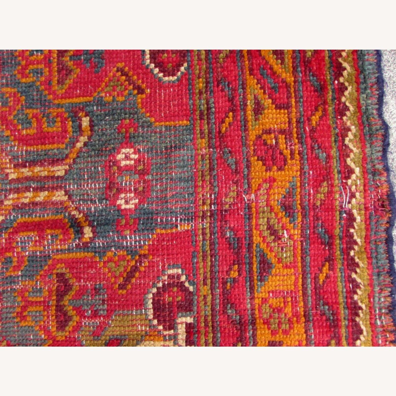 Handmade antique Turkish Oushak rug - image-7