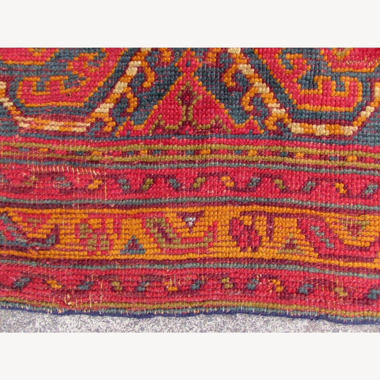 Handmade antique Turkish Oushak rug - image-10