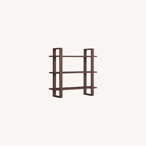Used Burrow Index Wall Shelf Walnut for sale on AptDeco