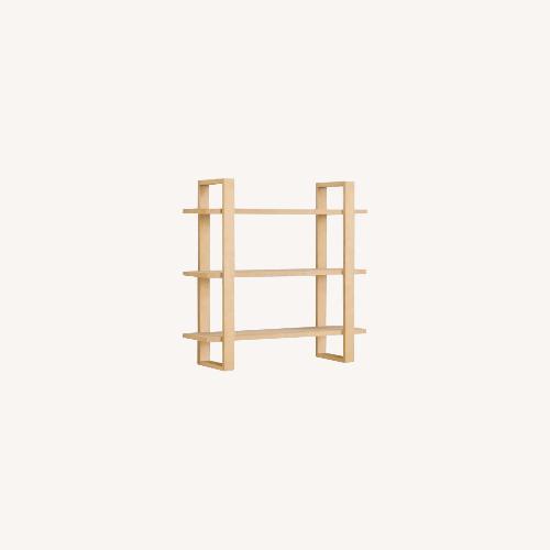 Used Burrow Index Wall Shelf Oak for sale on AptDeco