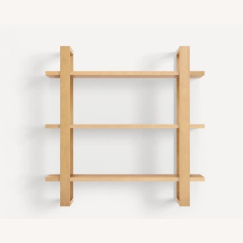 Burrow Index Wall Shelf Oak - image-1