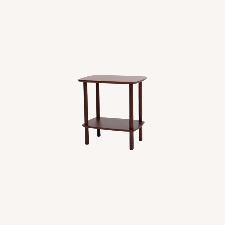 Burrow Serif Side Table Walnut - image-0