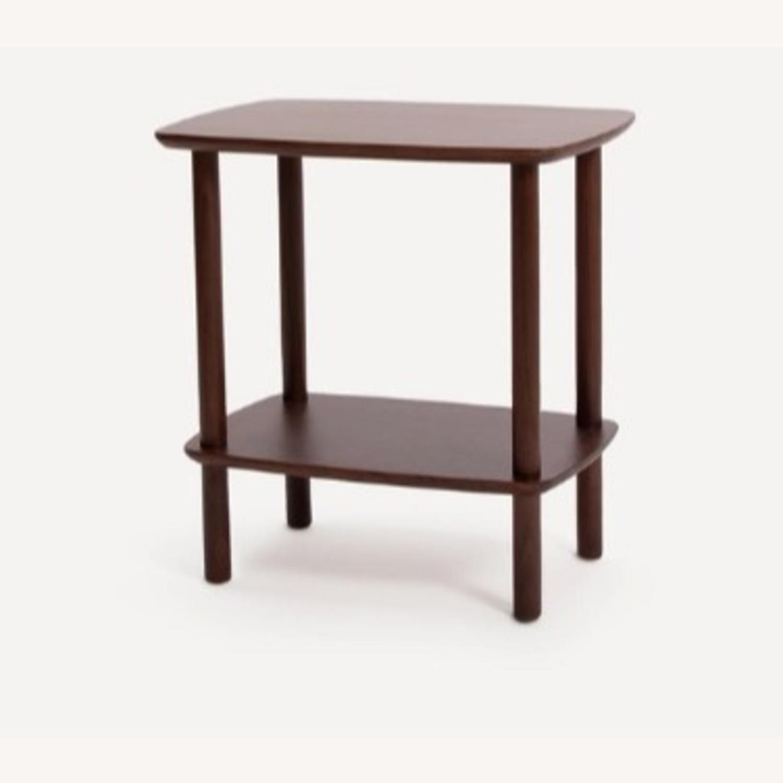 Burrow Serif Side Table Walnut - image-1
