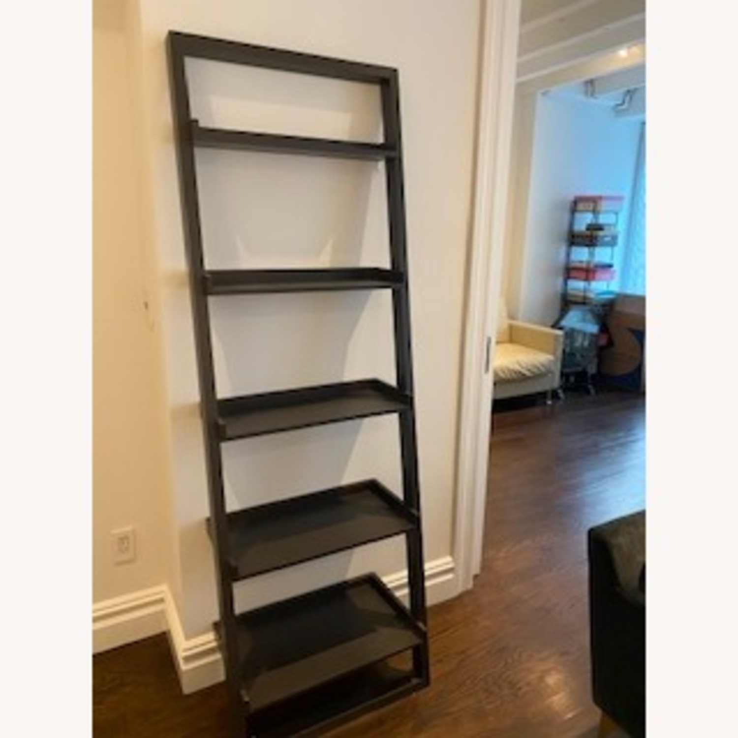 Crate and Barrel Sloane Leaning Bookcase - image-1
