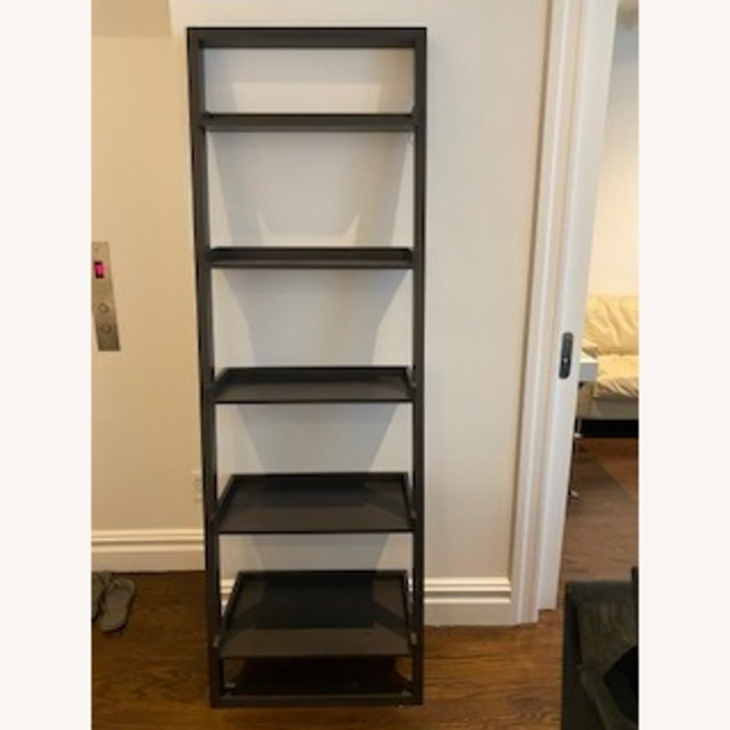 Crate and Barrel Sloane Leaning Bookcase - image-0