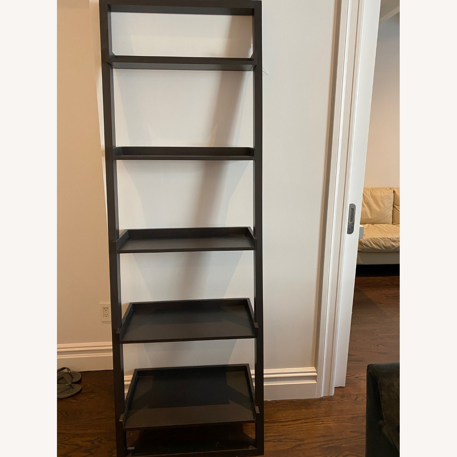 Crate and Barrel Sloane Leaning Bookcase - image-5