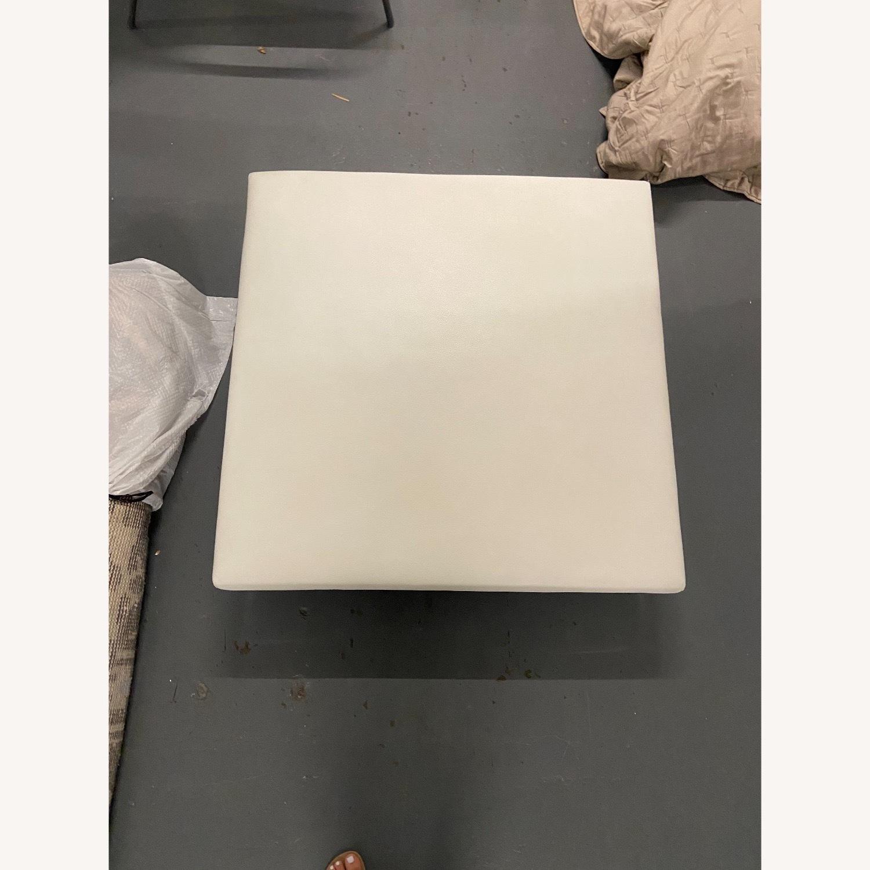 Roche Bobois White Leather Square Table - image-2