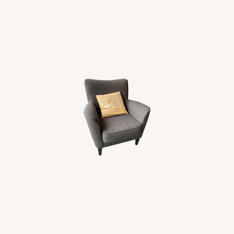 Dark Grey Armchairs - image-0