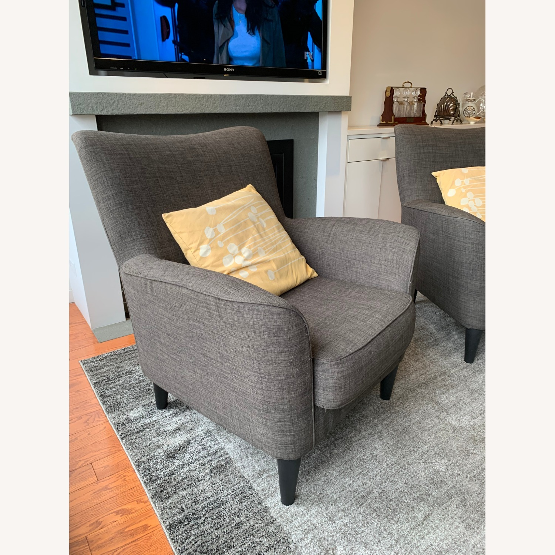 Dark Grey Armchairs - image-3