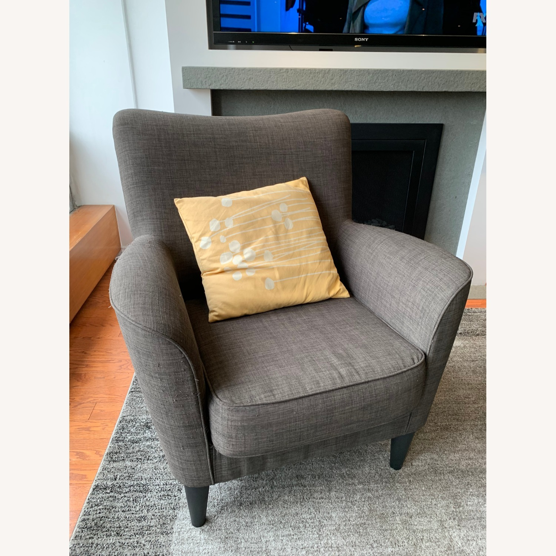 Dark Grey Armchairs - image-2