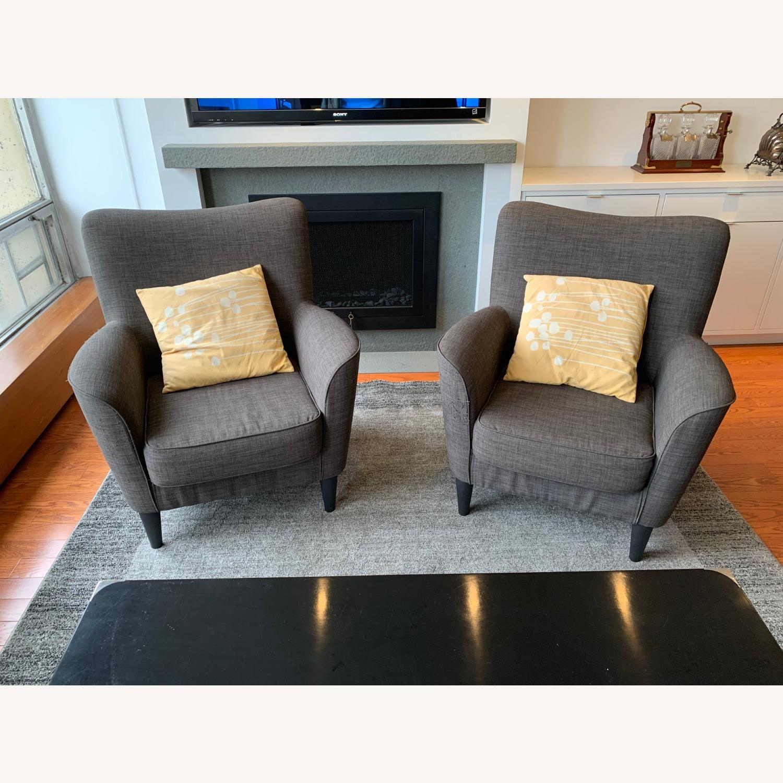 Dark Grey Armchairs - image-4