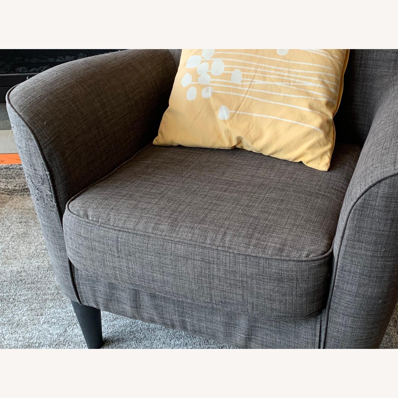 Dark Grey Armchairs - image-1