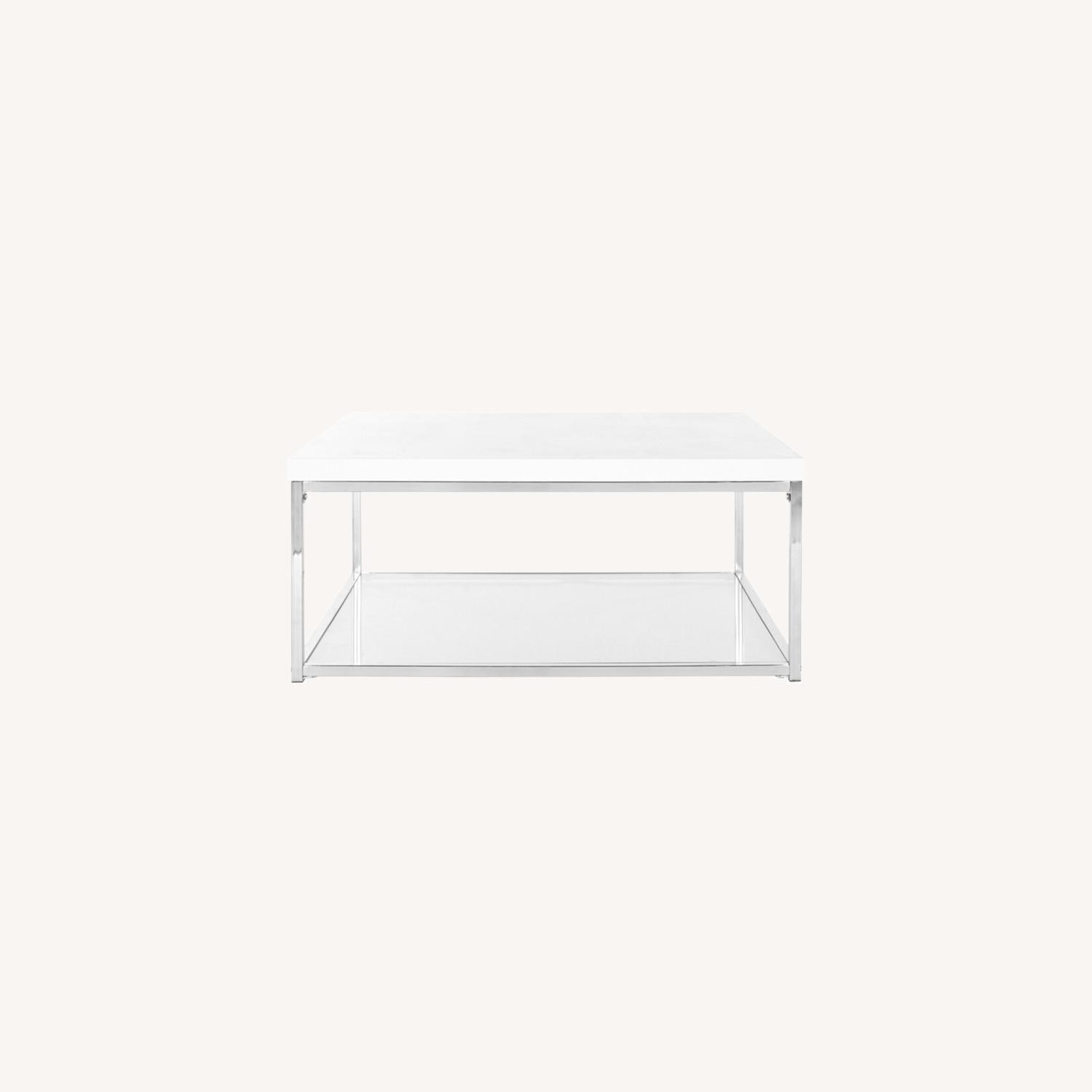 Modern Floor Coffee Table with Storage - image-0