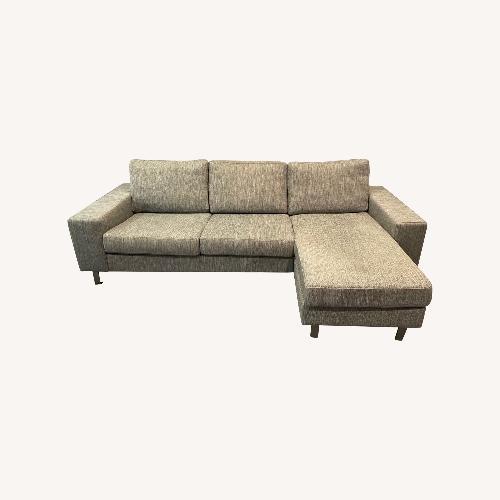 Used BoConcept Gray Chaise Lounge Sofa for sale on AptDeco