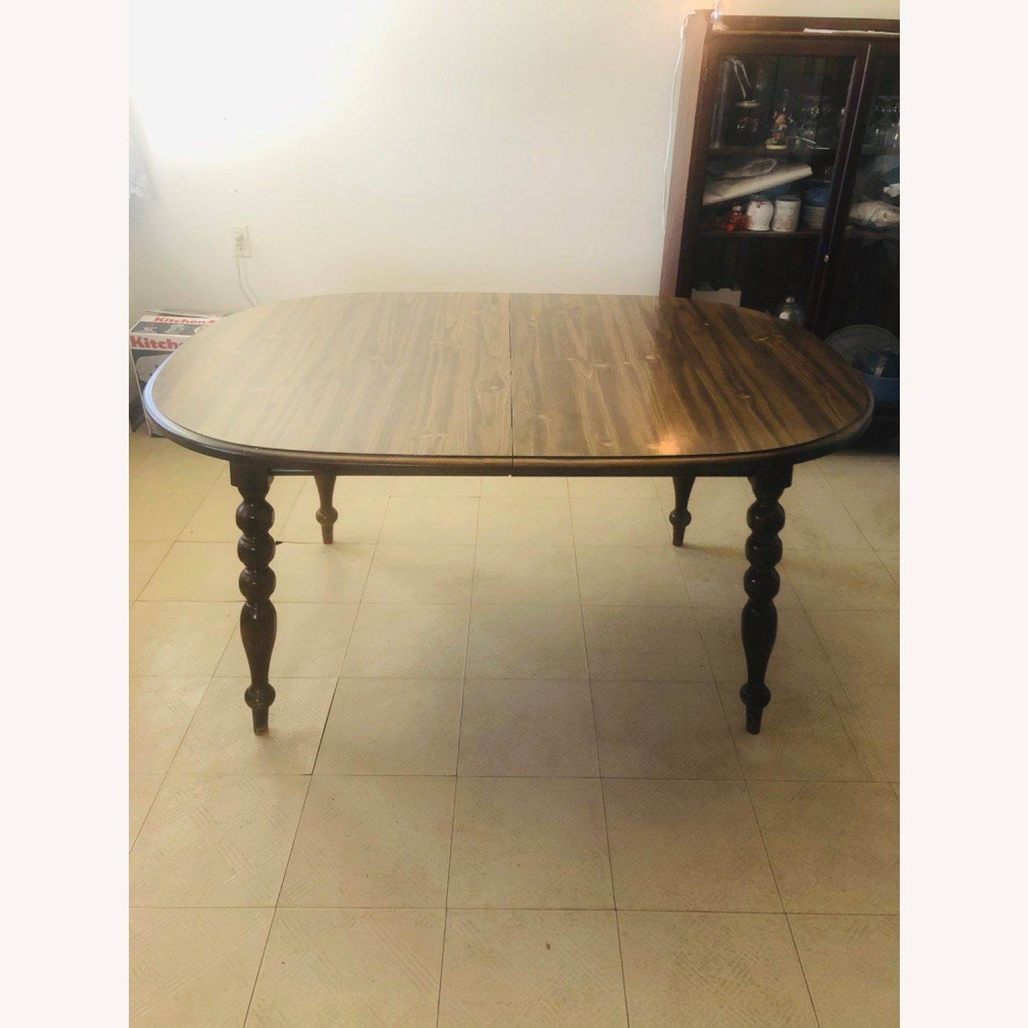 Solid Pine Wood Dining Table - image-1