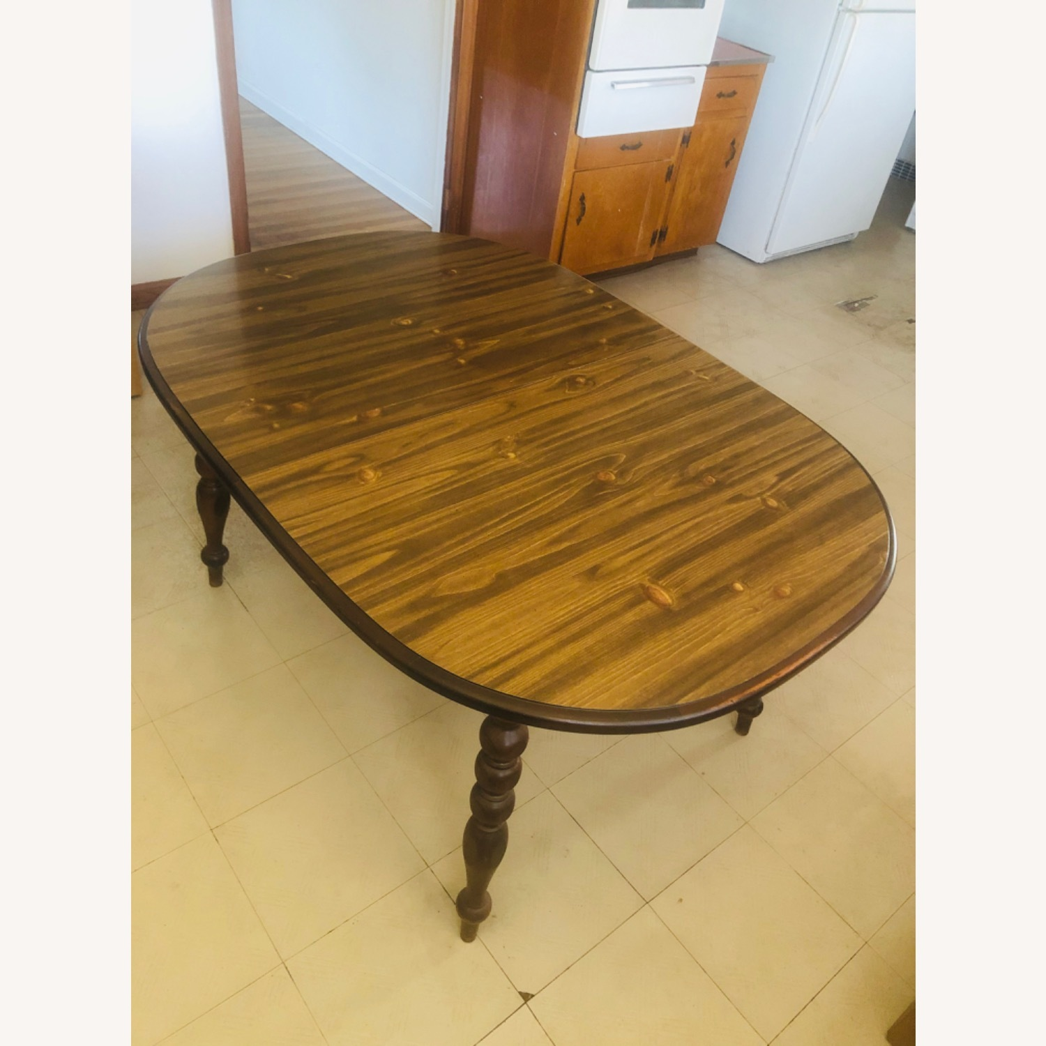 Solid Pine Wood Dining Table - image-2