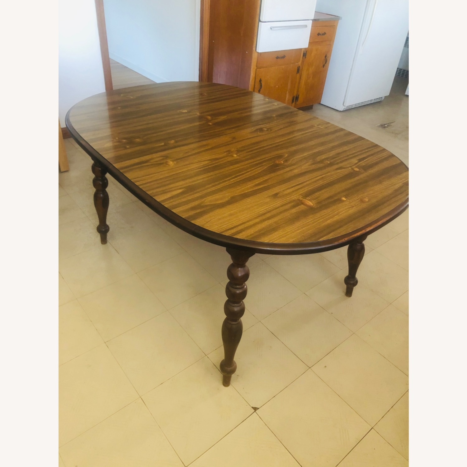 Solid Pine Wood Dining Table - image-3