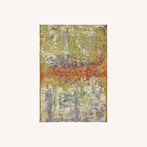 Used Wade Logan Barone indoor/outdoor Abstract Area Rug for sale on AptDeco