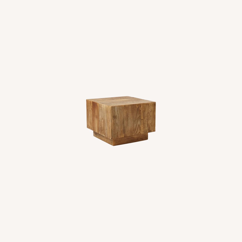 West Elm Plank Side Table - image-0