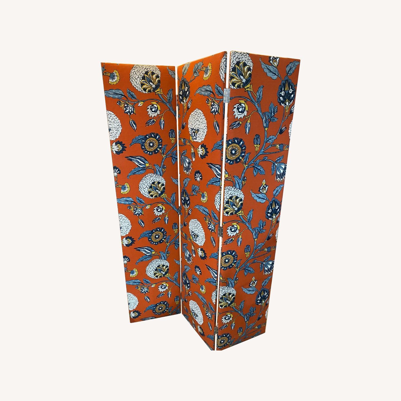Upholstered Floral Room Divider - image-0