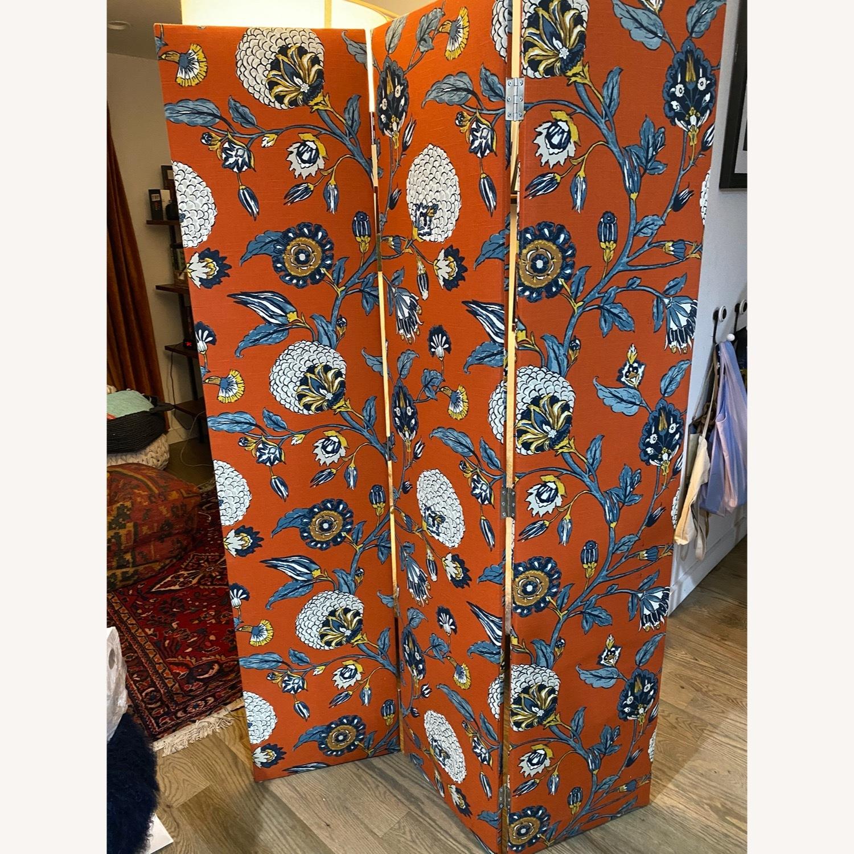 Upholstered Floral Room Divider - image-2