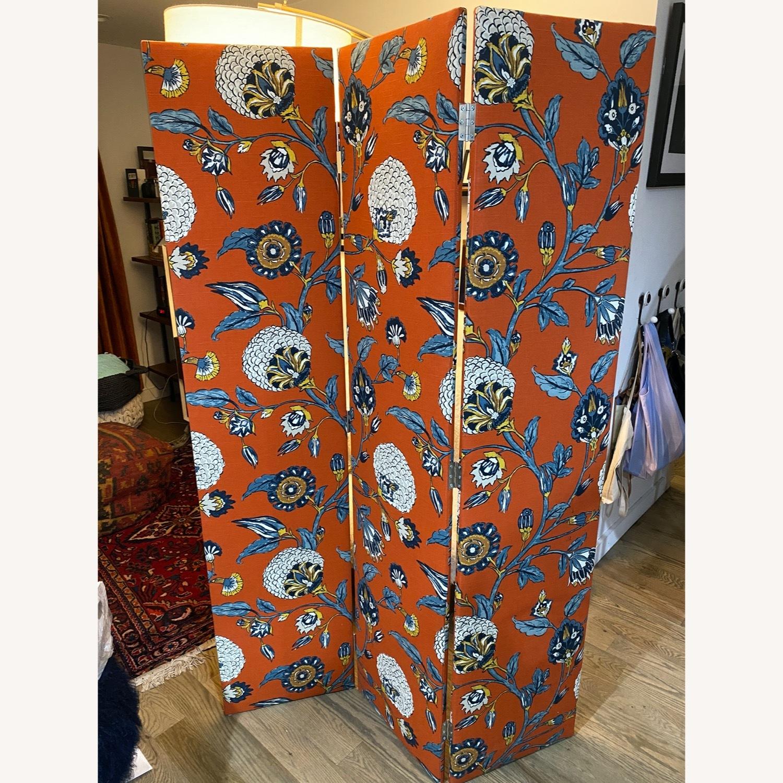 Upholstered Floral Room Divider - image-1